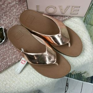 bf59653700f445 Fitflop Shoes - NWT Fit Flops ROSE GOLD sandals FITFLOP Swoop 8